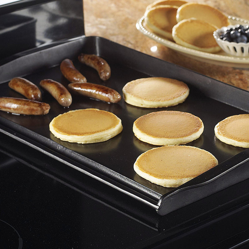 Nordic Ware Double Burner Backsplash Aluminum Griddle, 20x12 Inches