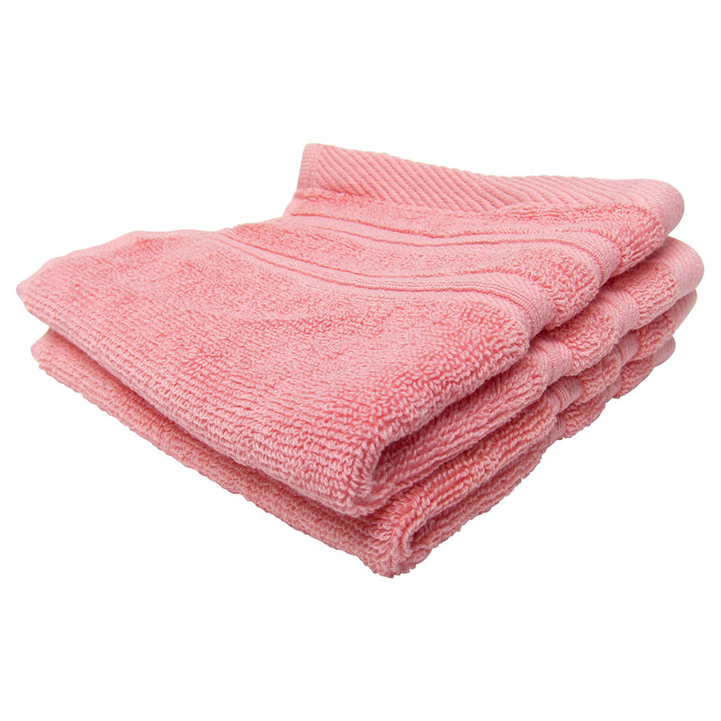 Feather and Stitch 2-Ply Wash Cloth, 2-Pack, 13x13 Inches, Pink (Pack of 2)