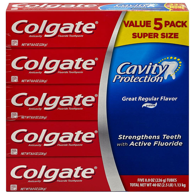 Colgate Cavity Protection Toothpaste With Fluoride Regular Flavor