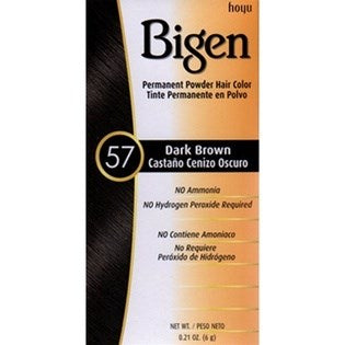 Bigen Permanent Powder Hair Color - 57 Dark Brown