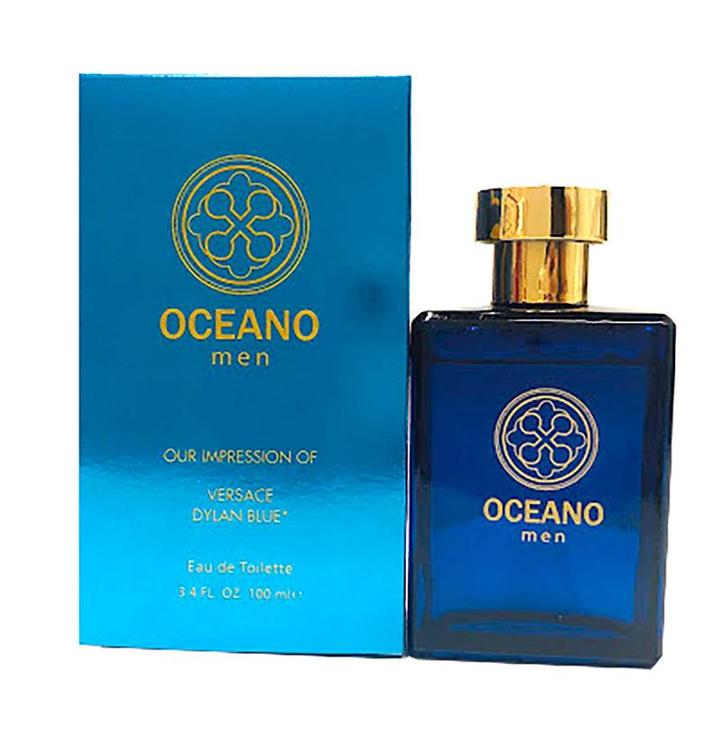 Oceano For Men, Impression of Versace Dylan Blue, 3.4 Fluid Ounces