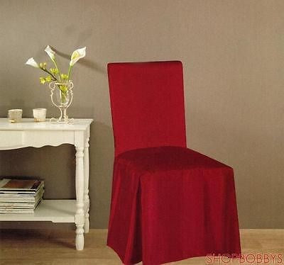 Jenny Faux Silk Dining Chair Cover - Burgundy
