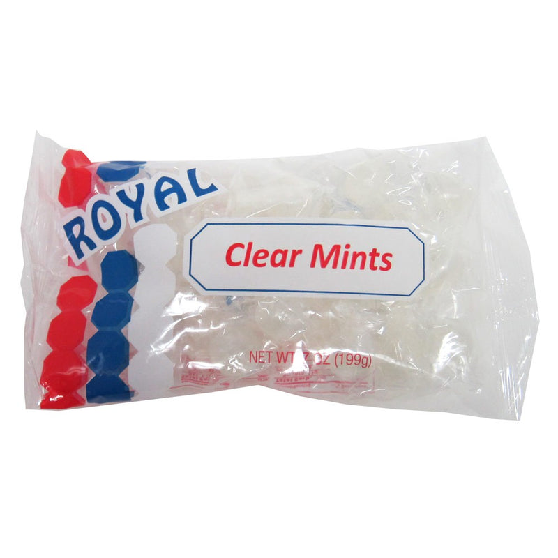 Royal Individually Wrapped Clear Mints Hard Candy - 7 Ounces