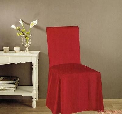 Jenny Faux Silk Dining Chair Cover - Red