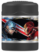 Thermos FUNtainer Captain America Civil War Food Jar, Black, 10 Ounces