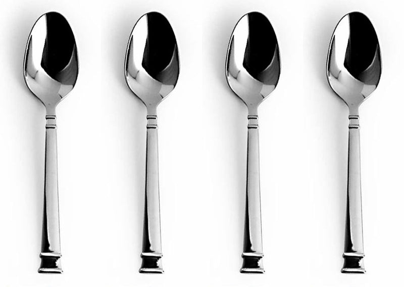 Bentley Stainless Steel Tea Spoon Set, 4-pieces, 6.25 Inches