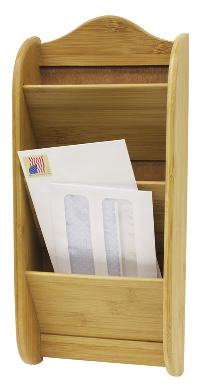 Bamboo 3 Slot Letter Rack - Natural
