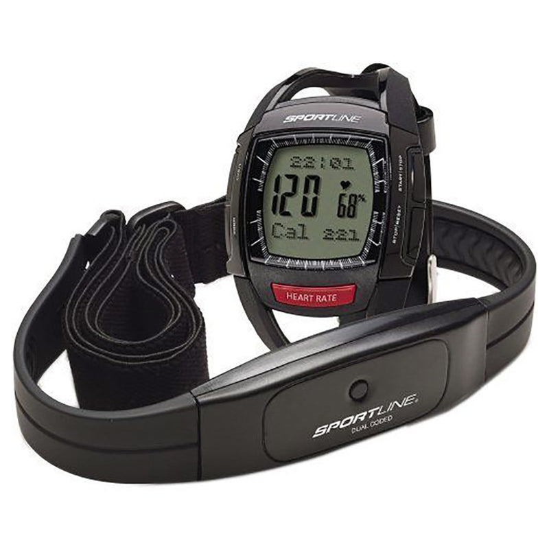 Sportline Cardio 660 Dual Coded Heart Rate Monitor, Black