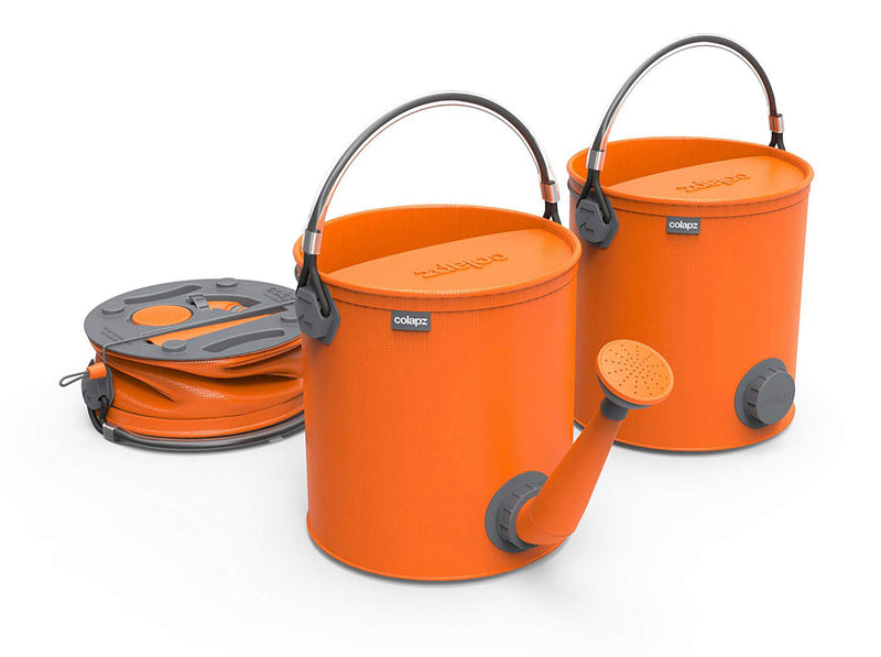 ColourWave Collapsible 2-In-1 Watering Can Bucket, 7-Liter, Juicy Orange