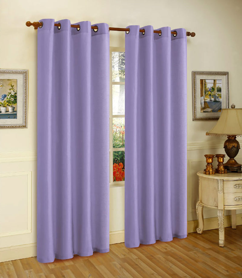 Melanie Faux Silk Panel With 8 Grommets Lavender - 55x84