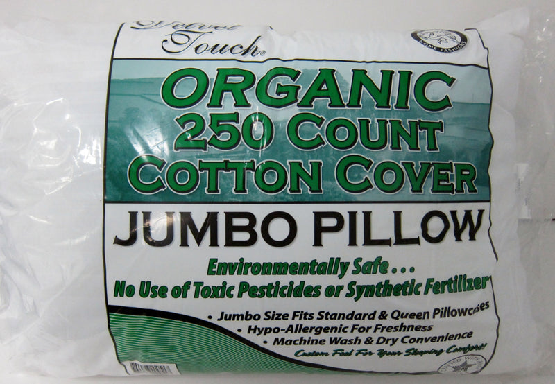 Forever Touch Organic Jumbo Pillow White - 250 Count