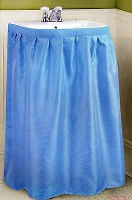 Dobbie Fabric Sink Skirt Blue - 55.5x35.5