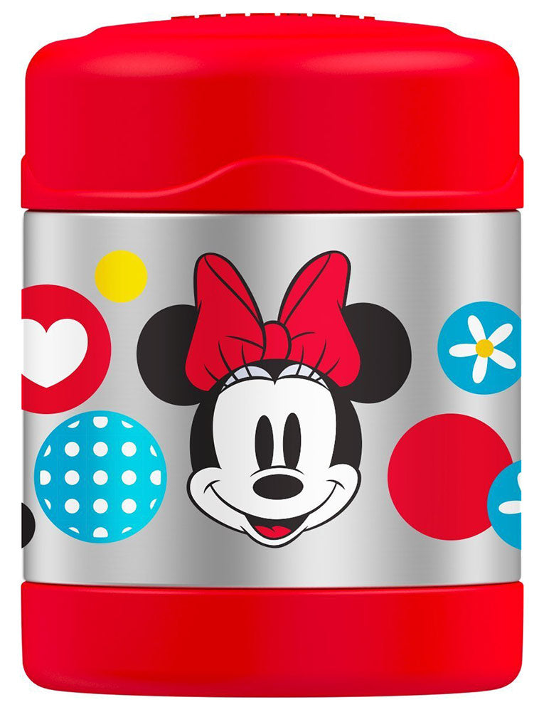 Thermos FUNtainer Disney Minnie Mouse Food Jar, Red, 10 Ounces