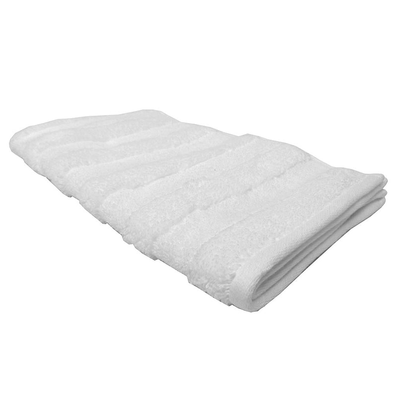Feather And Stitch Zero Twist Hand Towel, 16x26 Inches, White