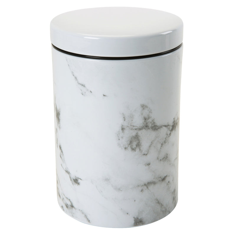 Kitchen Details Marble Desgin Printed Canister, 4.5x6.5 Inches