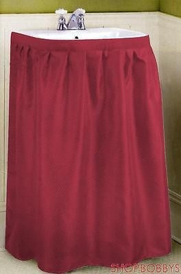 Dobbie Fabric Sink Skirt Burgundy - 55.5x35.5