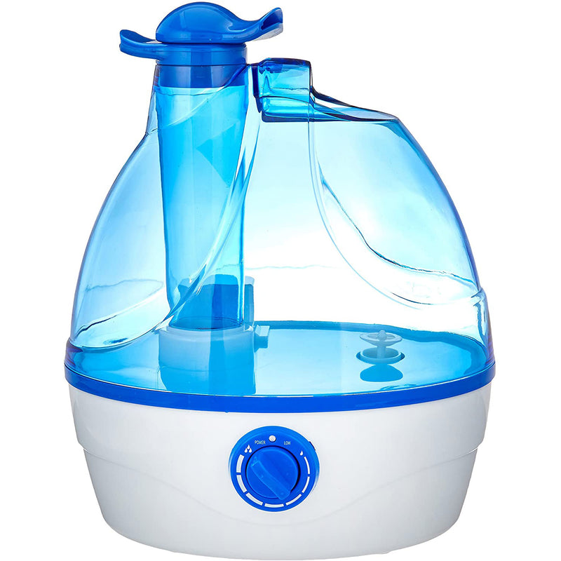 Comfort Zone Cool Mist Portable Ultrasonic Humidifier with Dual Nozzles, 0.6 Gallon