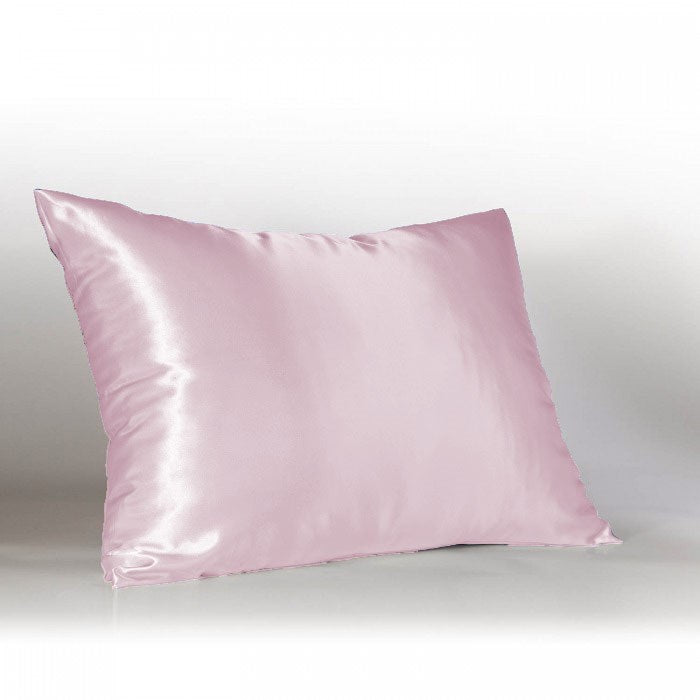 Better Home 100% Satin Zippered Pillow Protector Standard Size Pink - 19x25