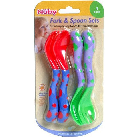 Nuby 4-pack Toddler Fork & Spoons Set