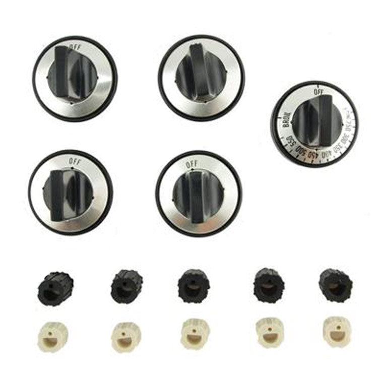 Aqua Plumb Replacement Gas Range Knob Set, Fits Most Brand Names