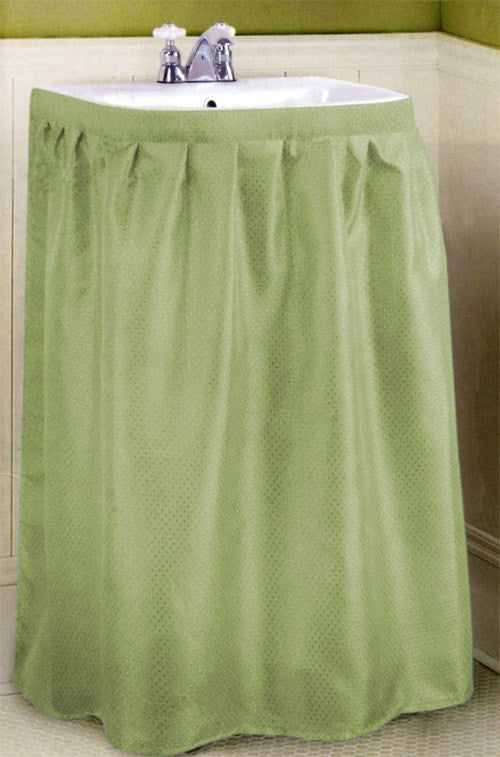 Dobbie Fabric Sink Skirt Sage - 55.5x35.5