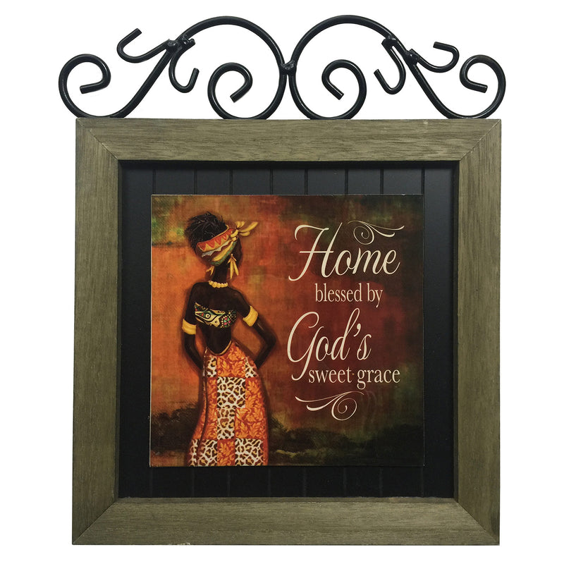 Premius Women of Faith Metal Plaque, Sweet Grace, 12x14 Inches