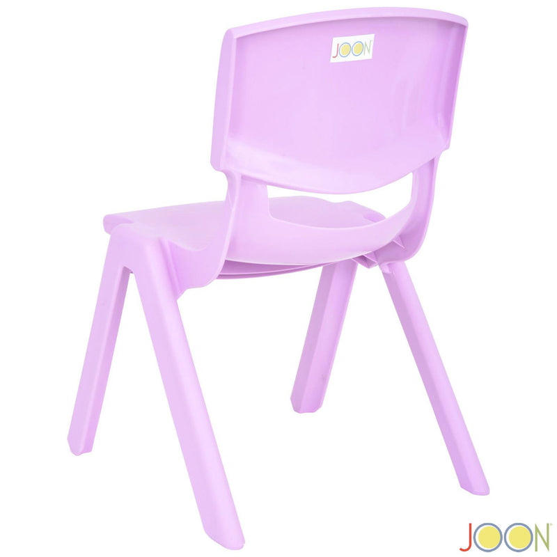 JOON Stackable Plastic Kids Learning Chairs, Lilac, 20.5x12.75X11 Inches, 2-Pack (Pack of 2)