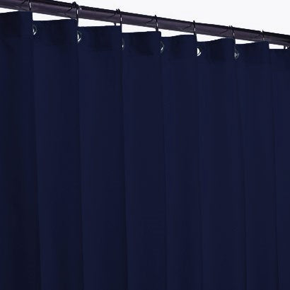 Hotel Fabric 12 Grommets Shower Curtain Or Liner Navy Blue - 70x72