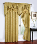 Portofino Jacquard Rod Pocket Panel Gold - 54x84