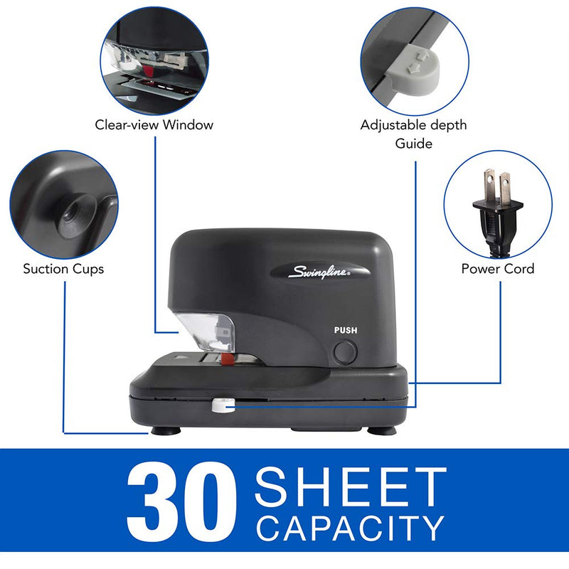 Swingline Heavy Duty 70 Sheet Capacity Electric Stapler, Black