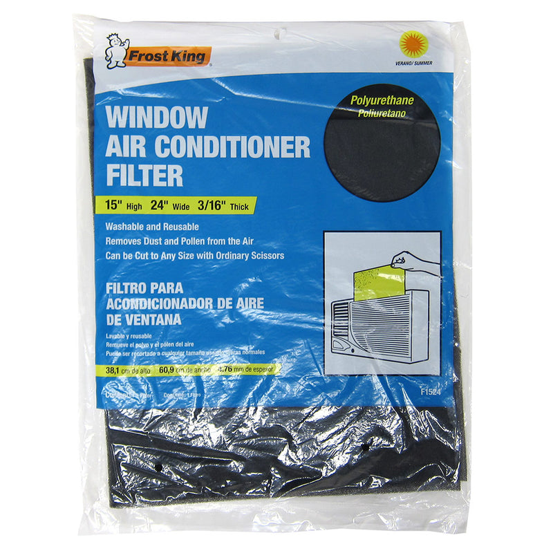 Frost King Window Replacement Air Conditioner Filter, Black, 15x24 Inches