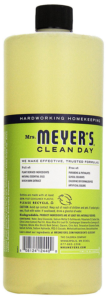 Mrs. Meyer's Multi-surface Concentrate Cleaner, Lemon Verbena, 32 Ounces