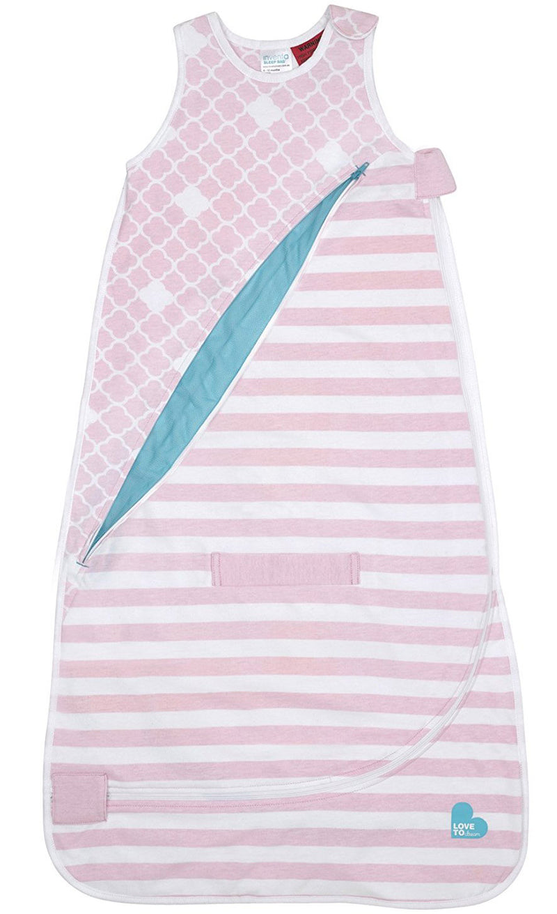 Love To Dream Inventa Cotton Sleep Bag, Lightweight, Pink, 4-12 Months