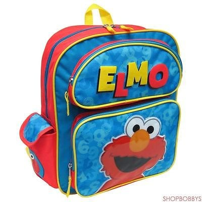 Sesame Street Elmo With 3d Embellished Kids Backpack, 14 Inches