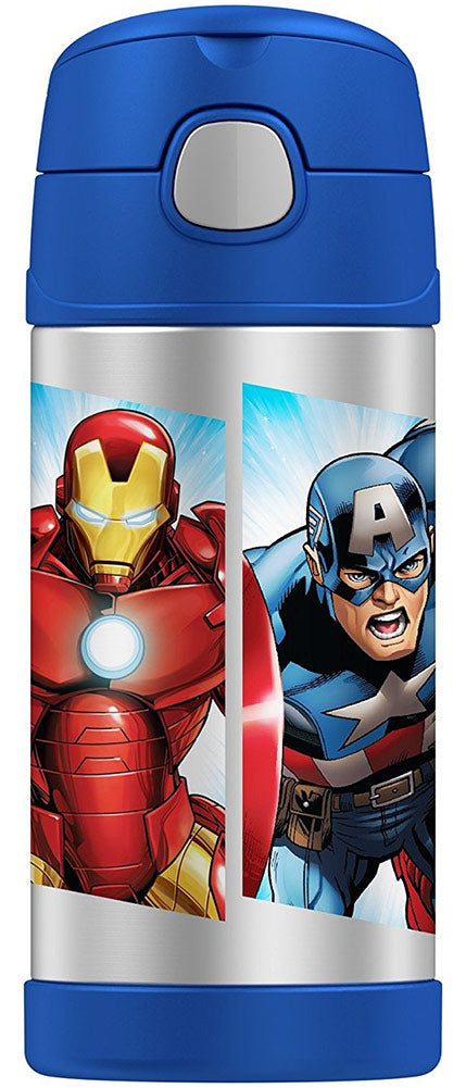 Thermos FUNtainer Marvel Avengers Bottle, Blue, 12 Ounces