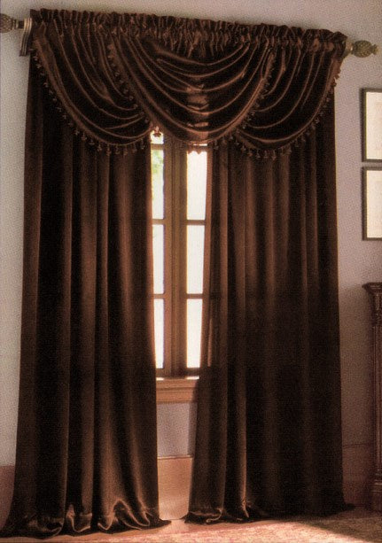Hilton Rod Pocket Panel Brown - 54x84