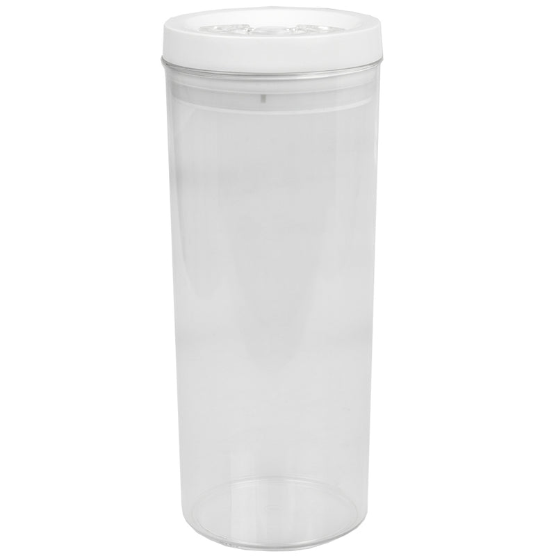 Home Basics Twist N' Lock Round Food Storage Canister, Clear, 2.8 Liters