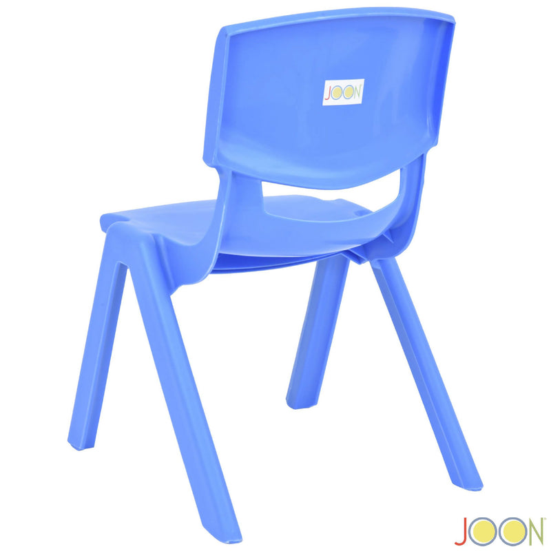 JOON Stackable Plastic Kids Learning Chairs, Blue, 20.5x12.75x11 Inches, 2-Pack (Pack of 2)