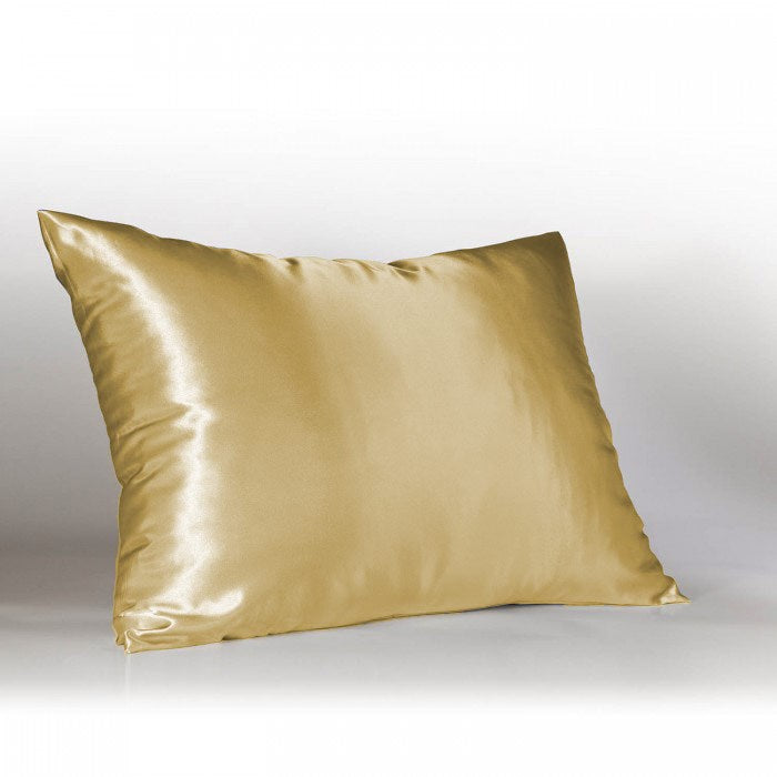Better Home 100% Satin Zippered Pillow Protector Standard Size Gold - 19x25