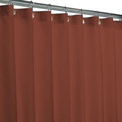 Hotel Fabric 12 Grommets Shower Curtain Or Liner Rust - 70x72