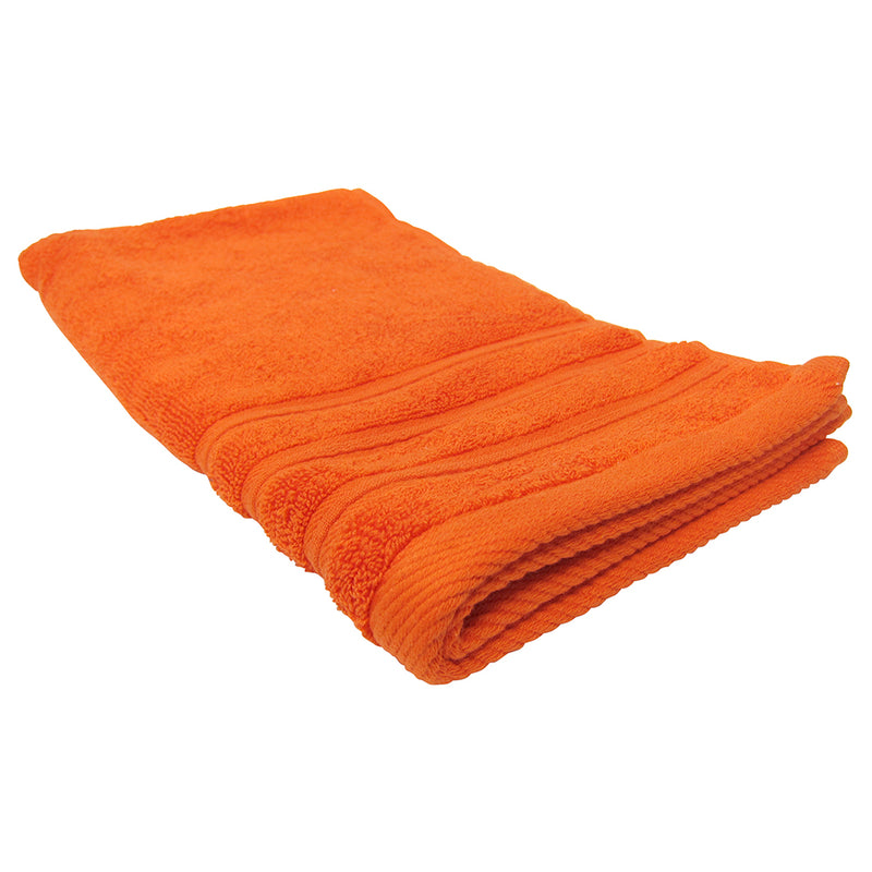 Feather and Stitch 2-Ply Hand Towel, 16x28 Inches, Bright Orange