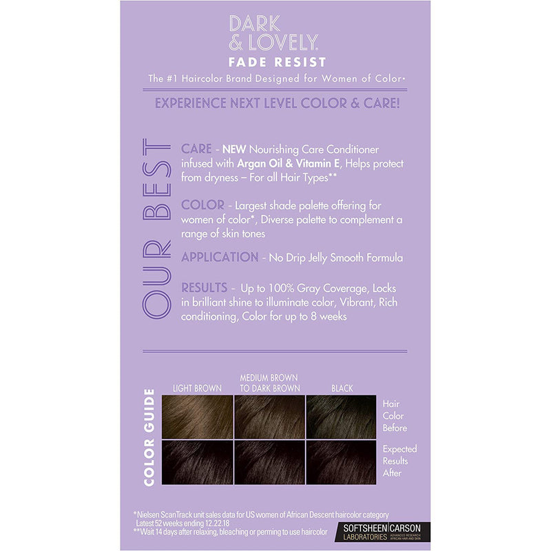 Dark & Lovely Permanent Hair Color, 372 Natural Black