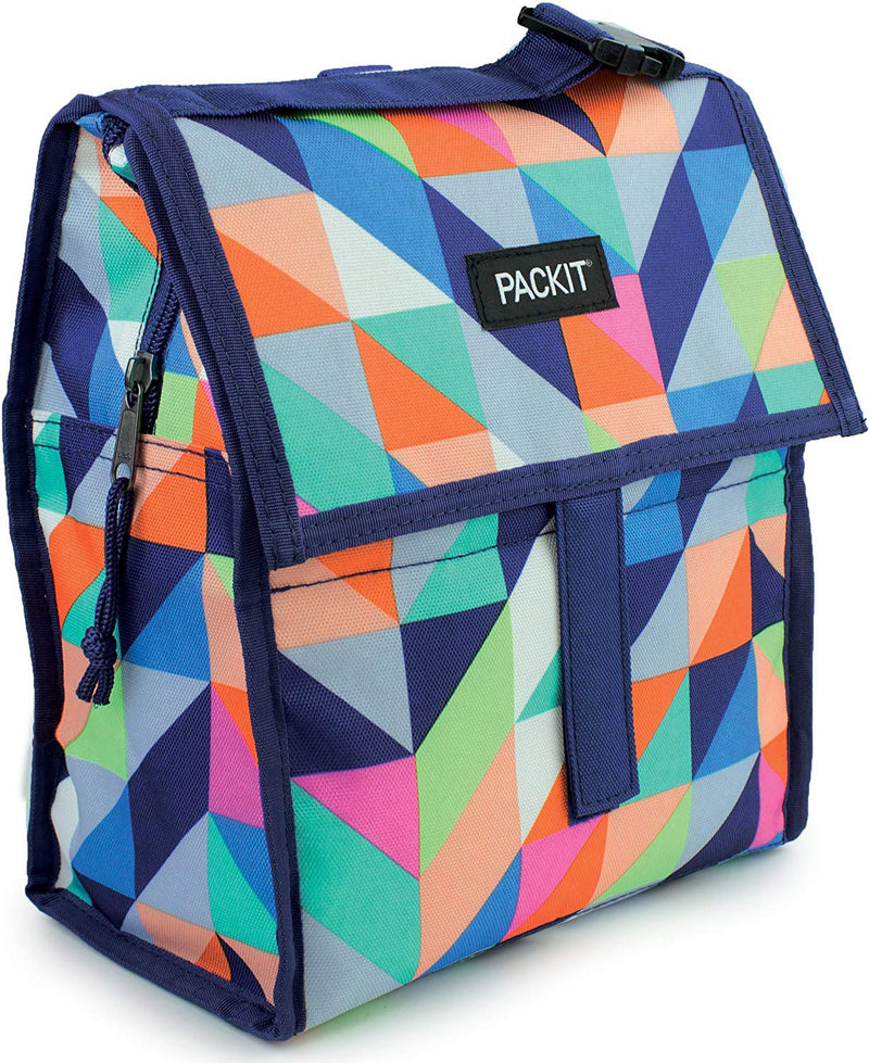 PackIt Freezable Lunch Bag with Zippered Closure, Paradise Breeze, 72 Ounces