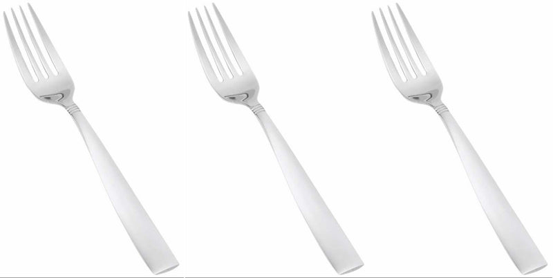 Simplicity Stainless Steel Salad Fork, 7.5 Inches, 3-pieces