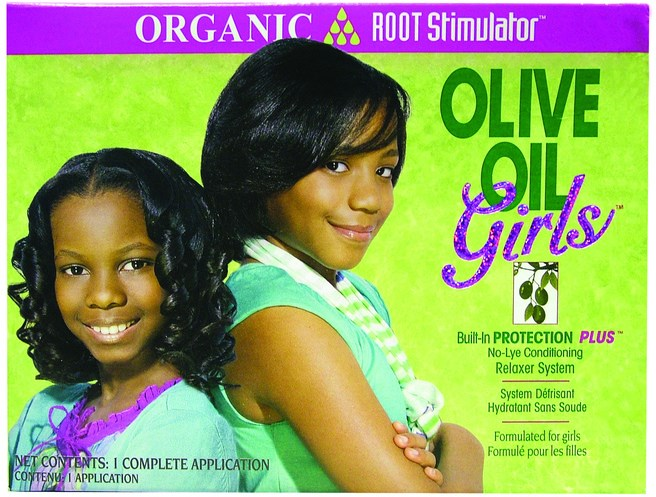 Organic Root Stimulator Olive Oil Girls No-lye Relaxer Kit