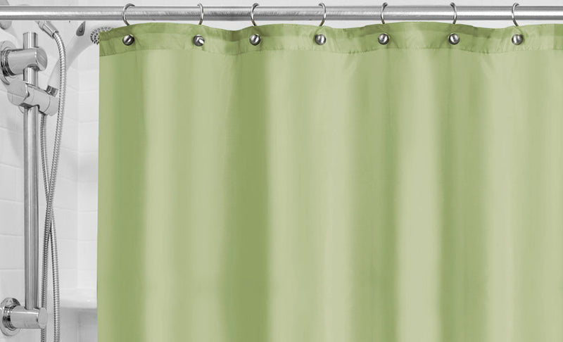 Hotel Fabric 12 Grommets Shower Curtain Or Liner, Moss, 70x72 Inches
