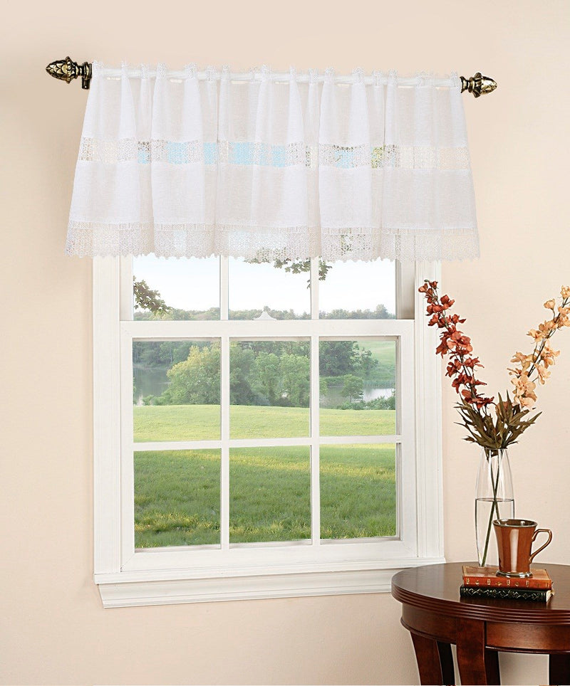 Treasure White Window Valance - 60x18