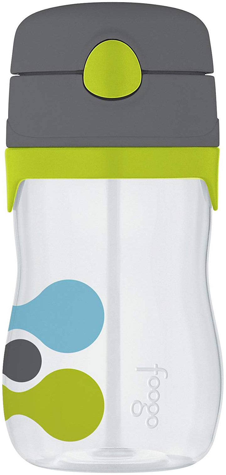 Thermos Foogo Straw Bottle With Tripoli Pattern, Clear, 11 Ounces