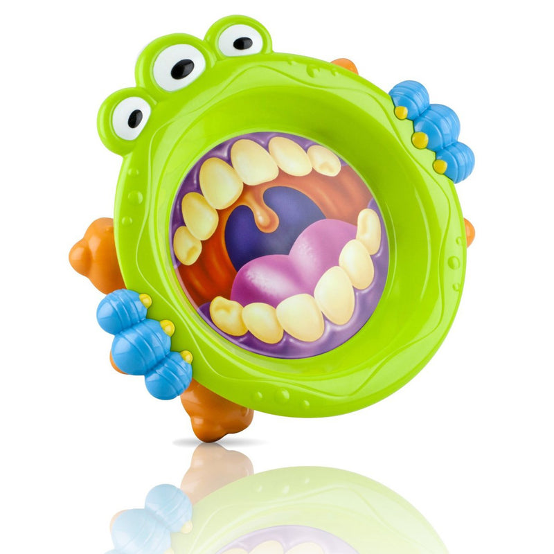 Nuby Monster Toddler Plate Green
