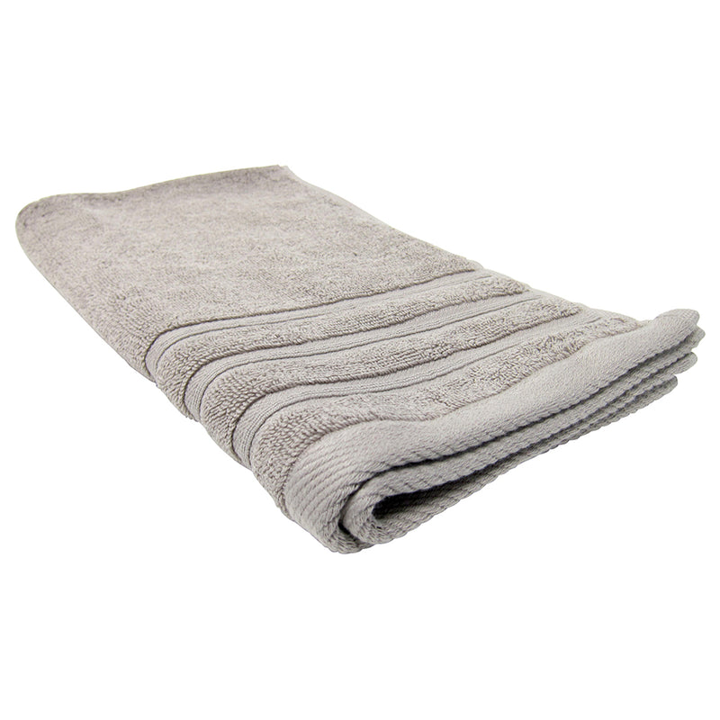 Feather and Stitch 2-Ply Hand Towel, 16x28 Inches, Silver